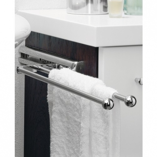 porte serviettes 2 barres hettich porte serviettes salle de bain. Black Bedroom Furniture Sets. Home Design Ideas