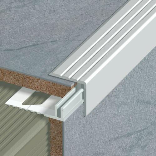 nez de marche en aluminium pour usage domestique 25 x 24 x 270 mm sans socle dinac protections. Black Bedroom Furniture Sets. Home Design Ideas